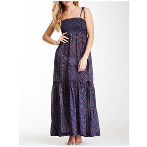 French Connection Ditsy Leaf Maxidress
